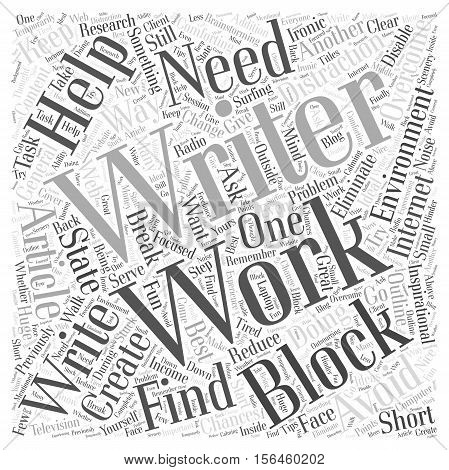 How to Avoid and Overcome Writers Block word cloud concept