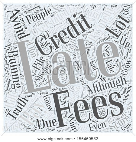 How To Avoid Late Fees word cloud concept