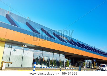 Entrance to the airport in Tallin, Estonia