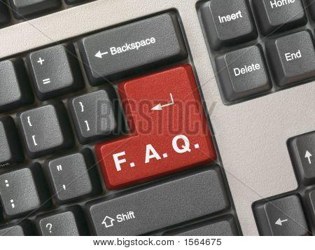 Teclado de computador - Faq chave vermelha