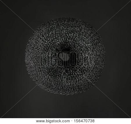 Donut bun maker on black background