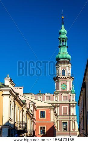 Ratusz or Town Hall on Rynek Wielki Square in Zamosc - Poland