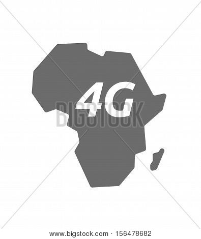 Isolated Africa Map With    The Text 4G