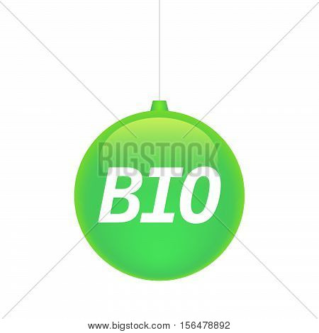 Isolated Christmas Ball With  The Text  Bio