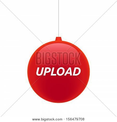 Isolated Christmas Ball With    The Text Upload