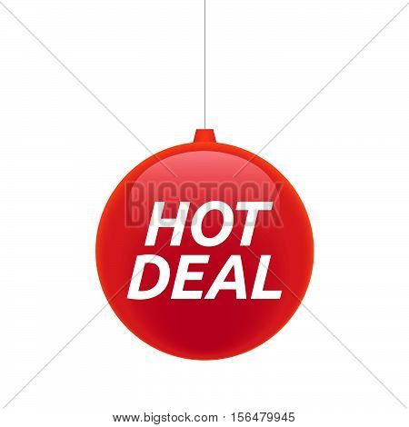 Isolated Christmas Ball With    The Text Hot Deal