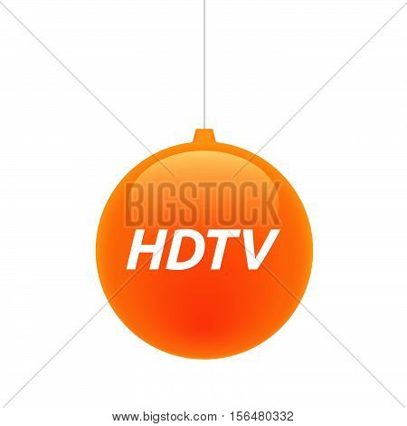 Isolated Christmas Ball With    The Text Hdtv