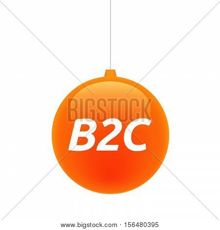 Isolated Christmas Ball With    The Text B2C