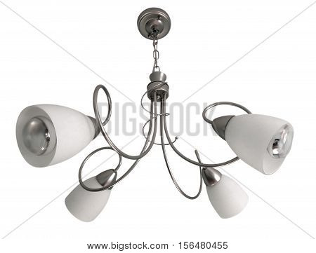 Chandelier isolated on white with clipping path