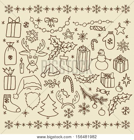 Christmas Doodle Elements