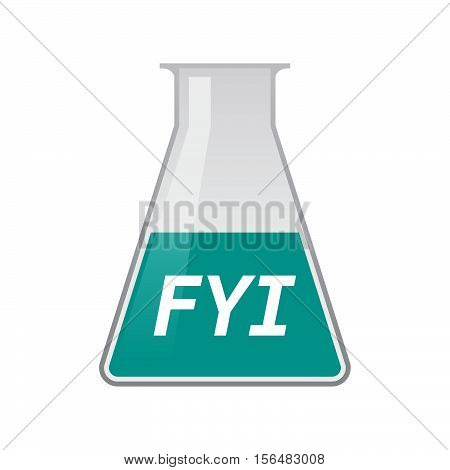 Isolated Test Tube With    The Text Fyi