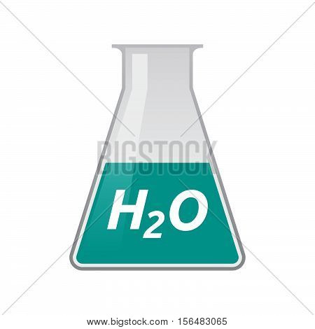Isolated Test Tube With    The Text H2O