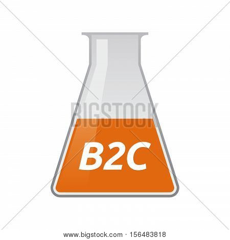 Isolated Test Tube With    The Text B2C