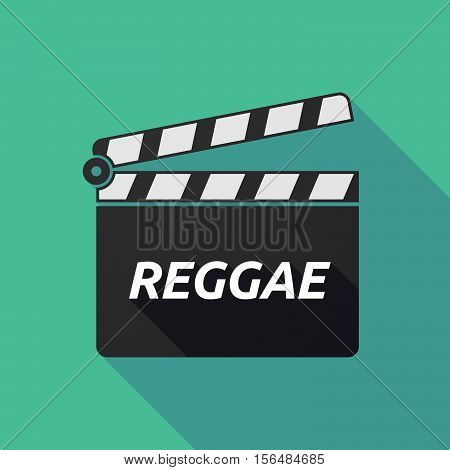 Long Shadow Clapper Board With    The Text Reggae