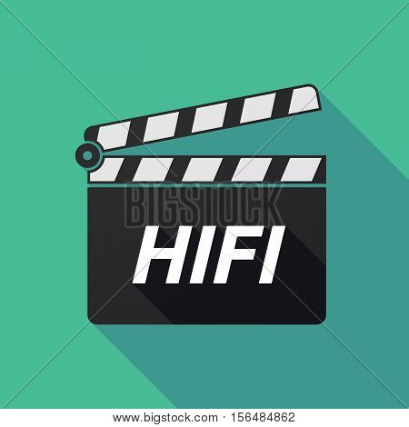 Long Shadow Clapper Board With    The Text Hifi