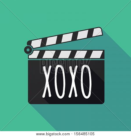 Long Shadow Clapper Board With    The Text Xoxo
