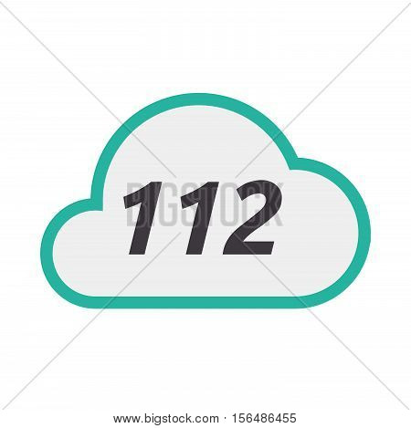 Isolated Cloud Icon With    The Text 112