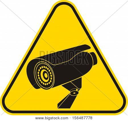 Video surveillance sign or icon. CCTV Camera.