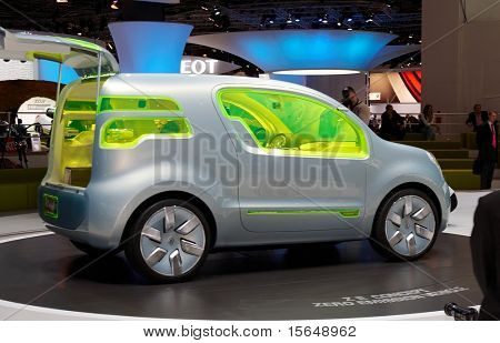 PARIS, FRANCE - OCTOBER 02: Paris Motor Show  on October 02, 2008, showing Renault ZE Concept, rear view.