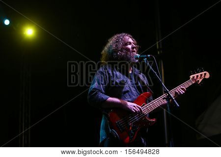 LAKE WALES, FL-NOV 4: A member of the Marshall Tucker Band performs at the CountryFlo Music and Camping Festival on November 4, 2016 in Lake Wales, Florida.