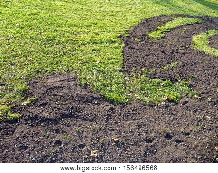 Green Abd Brown Grass And Soil Pattern
