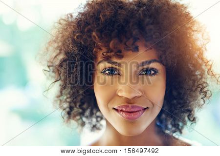 Pretty Black Girl Smiling At Camera