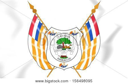 Orange Free State Coat Of Arms. 3D Illustration.