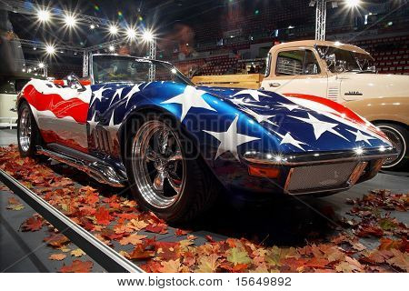 HELSINKI, FINLAND - OCTOBER 3: X-Treme Car Show, showing 1969 Chevrolet Corvette Stingray on October 3, 2009 in Helsinki, Finland