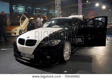 HELSINKI, FINLAND - OCTOBER 3: X-Treme Car Show, showing tuned 2006 BMW 325i on October 3, 2009 in Helsinki, Finland
