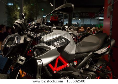 Aprilia Motorbike On Display At Eicma 2016