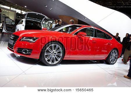 PARIS, FRANCE - SEPTEMBER 30: Paris Motor Show on September 30, 2010, showing Audi A7 Sportback, front view