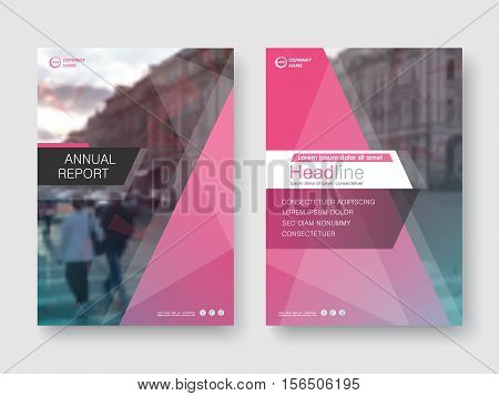Cover design annual report, vector template brochures, flyers, presentations, leaflet, magazine a4 size. White with red abstract background
