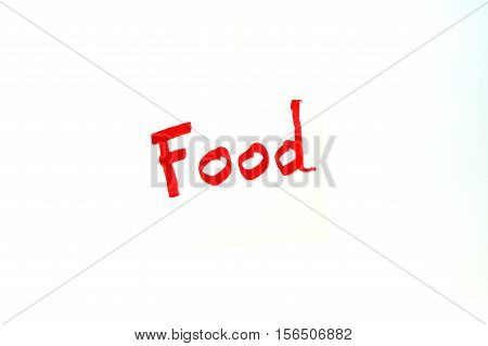 Mot Food written in red letters on white background