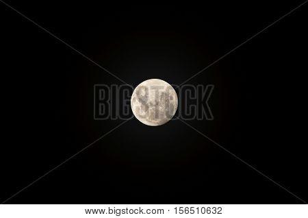 Super Moon, close to earth on November 14, 2016