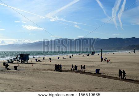 Santa Monica Beach, Los Ángeles California, USA.