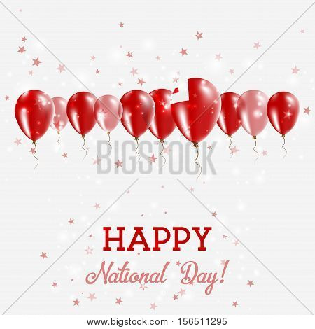 Tonga Independence Day Sparkling Patriotic Poster. Happy Independence Day Card With Tonga Flags, Con