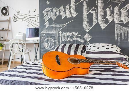 Music Inspired Bedroom
