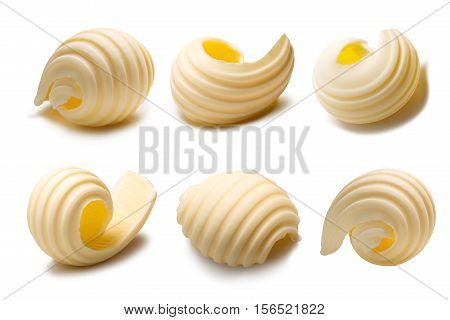 Set Of Butter Curls Or Rolls, Paths