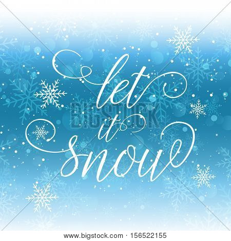 Christmas background with let it snow wording