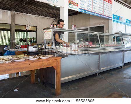 Bangkok Thailand - August 7 2016: Tradition Thai curry restaurant cafe.