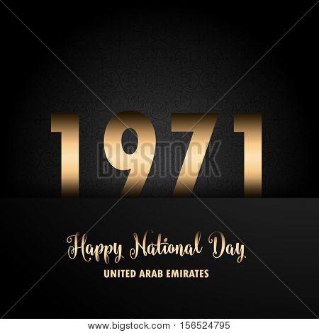 Decorative background for UAE National Day celebration