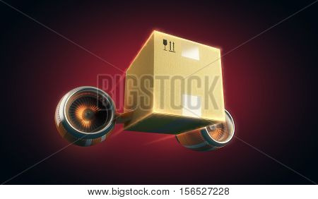 Delivery, shipment and fast distribution of goods, 3d illustration