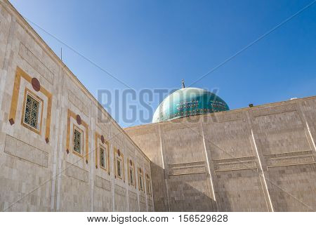 dome of Ruhollah Khomeini Mausoleum in Tehran capital of Iran