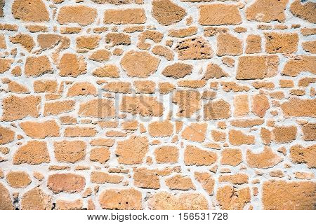 Background from an old brown sandstone wall