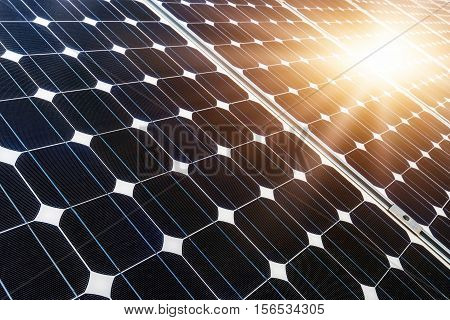 photovoltaic panels, alternative electricity source - selective focus, copy space