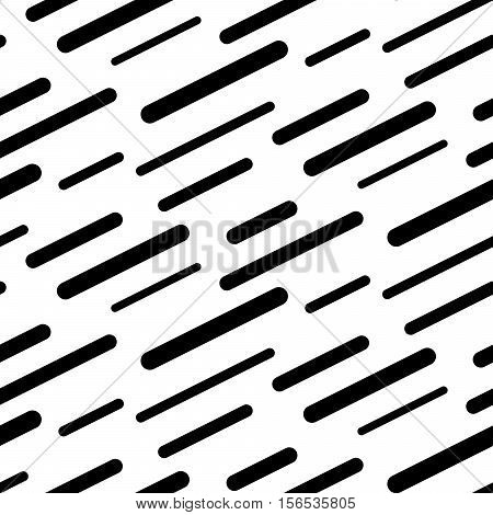 Abstract diagonal sticks seamless vector pattern. Black and white simple shapes background for website wallpaper.
