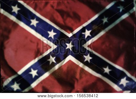 grunge filtered background of a confederate southern rebel flag