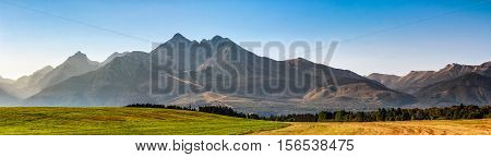 Rural Field In Tatra Mountains