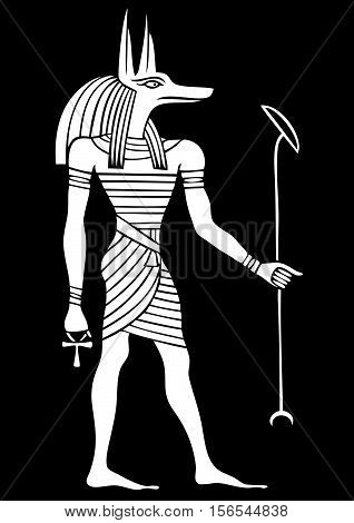 Anubis - God of ancient Egypt - God of funerals death the dead and the afterlife