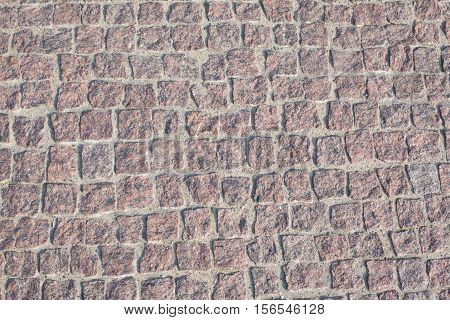 background texture of stone road Closeup view